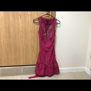 White House Black Market Floral Dress W/Sequins